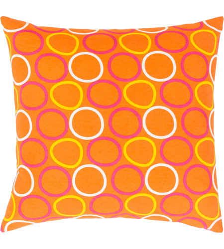 Surya MRA003-1818 Miranda 18 X 18 inch Yellow and Orange Pillow Cover photo