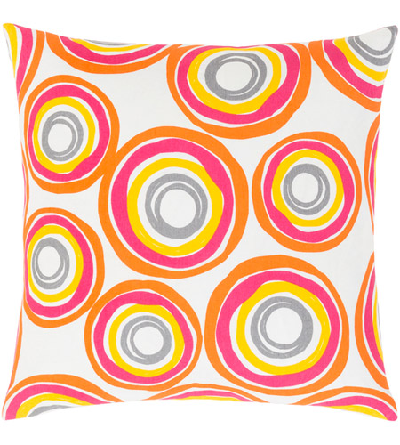 Surya MRA004-1818P Miranda 18 X 18 inch Bright Yellow and Bright Orange Throw Pillow photo