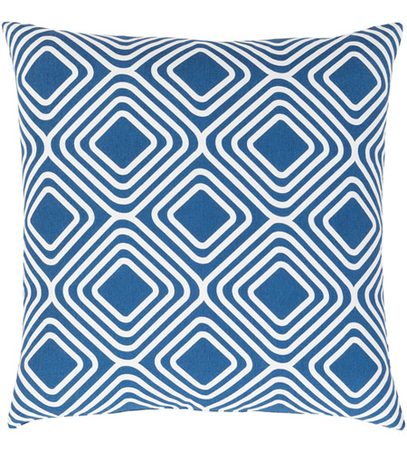 Surya MRA009-1818P Miranda 18 X 18 inch Dark Blue and White Throw Pillow photo
