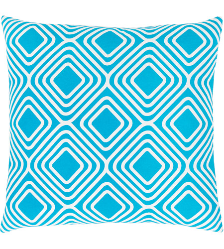 Surya MRA010-2222 Miranda 22 X 22 inch Blue and White Pillow Cover photo
