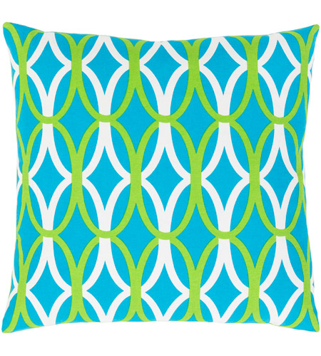 Surya MRA012-1818D Miranda 18 X 18 inch Bright Blue and Grass Green Throw Pillow photo