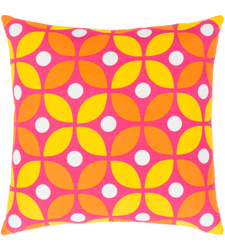 Surya MRA014-1818D Miranda 18 X 18 inch Bright Yellow and Bright Orange Throw Pillow photo