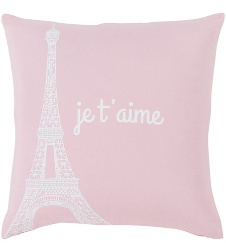 Surya MTT009-2222 Motto 22 X 22 inch Blush/White Pillow Cover, Square photo