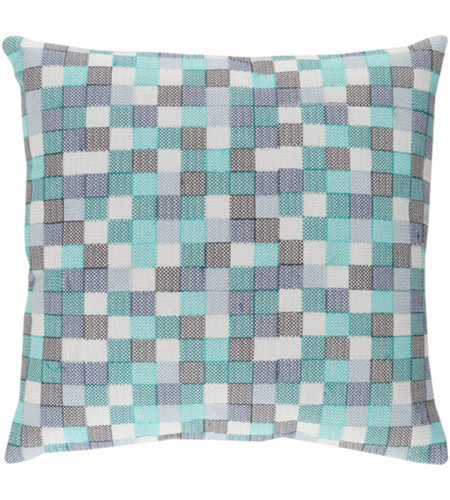 Surya MUL001-2020 Modular 20 X 20 inch Blue and Navy Pillow Cover photo