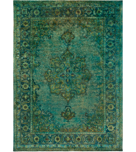 Surya MYK5009-811 Mykonos 132 X 96 inch Olive/Teal/Sage/Emerald Rugs, Wool photo