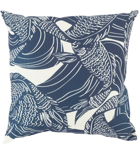 Surya MZ004-2020 Mizu 20 X 20 inch Navy and Off-White Outdoor Throw Pillow photo