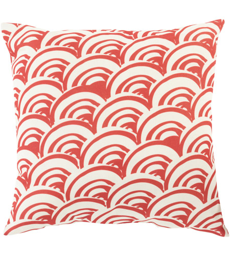 Surya MZ009-1818 Mizu 18 X 18 inch Red and Off-White Outdoor Throw Pillow photo