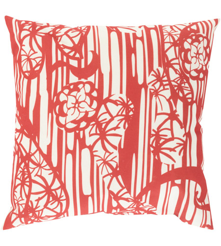 Surya MZ011-1818 Mizu 18 X 18 inch Red and Off-White Outdoor Throw Pillow photo