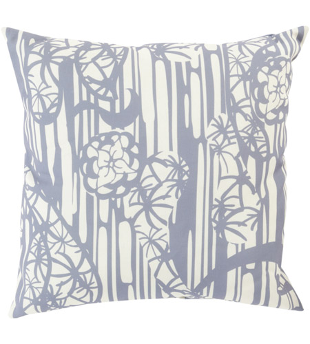 Surya MZ012-2020 Mizu 20 X 20 inch Grey and Off-White Outdoor Throw Pillow photo