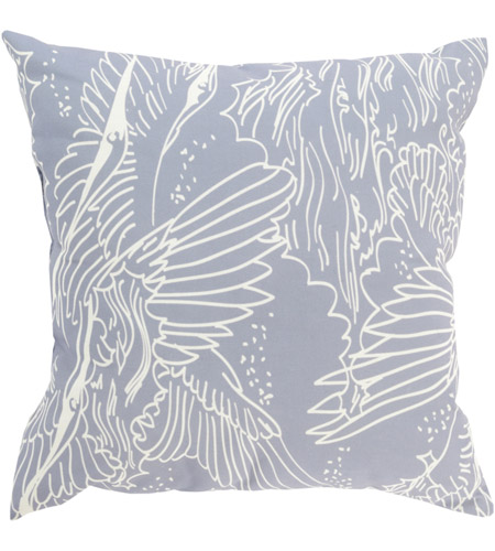 Surya MZ014-2020 Mizu 20 X 20 inch Grey and Off-White Outdoor Throw Pillow photo