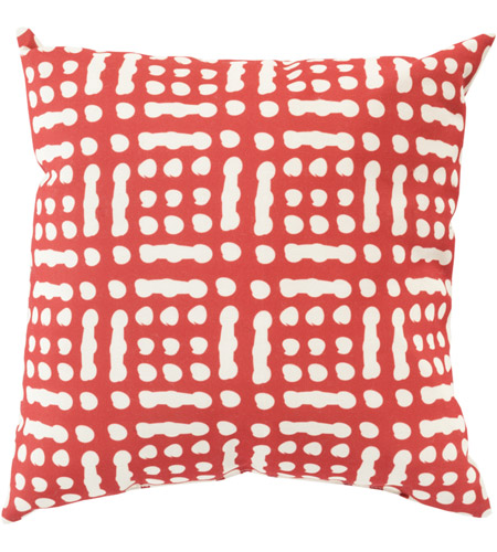 Surya MZ016-2020 Mizu 20 X 20 inch Red and Off-White Outdoor Throw Pillow photo