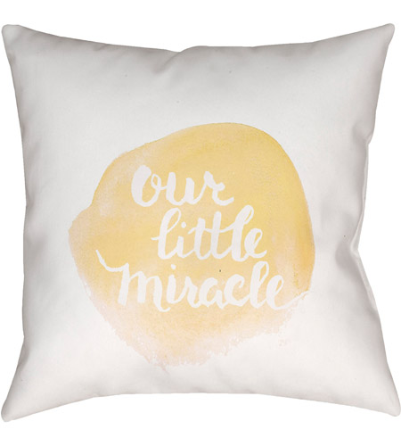 Surya NUR010-2020 Miracle 20 X 20 inch Yellow and White Outdoor Throw Pillow photo