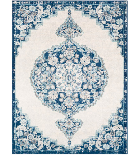 Surya Nwc2310 710103 Norwich 123 X 94 Inch Dark Blue Aqua Cream Medium Gray Light Rugs