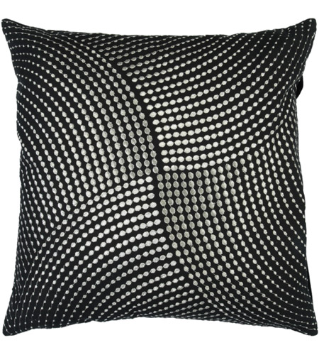 Surya P0223-2222D Midnight 22 X 22 inch Black/Metallic - Silver Pillow Kit photo