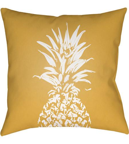 Surya Pine001 2020 Pineapple 20 X 20 Inch Yellow And White Outdoor