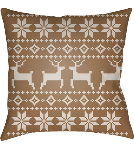 Surya PLAID002-2020 Fair Isle I 20 X 20 inch Tan and Beige Outdoor Throw Pillow photo