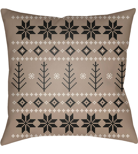 Surya PLAID011-2020 Fair Isle III 20 X 20 inch Tan and Neutral Outdoor Throw Pillow photo