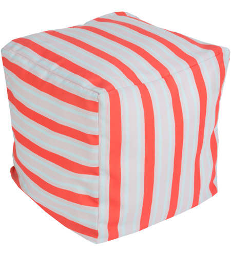 Surya POUF-283 Signature 18 inch Orange Pouf photo