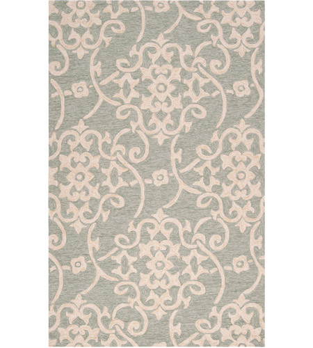 Surya RAI1103-1014 Rain 168 X 120 inch Sea Foam and Emerald Outdoor Area Rug photo