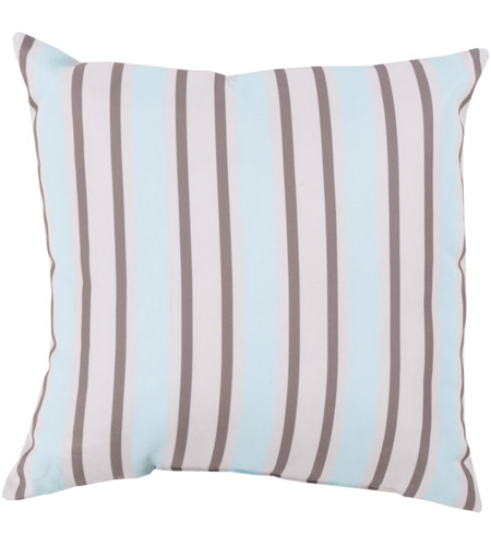 Surya RG111-2020 Rain 20 X 20 inch Blue and Off-White Outdoor Throw Pillow photo