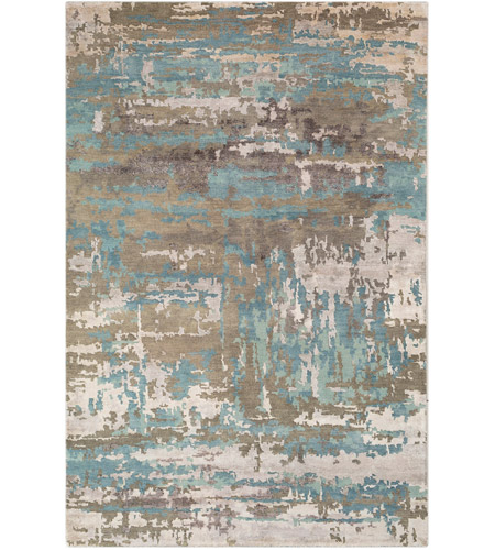 Surya RTE2301-23 Arte 36 X 24 inch Sage and Teal Area Rug, Rectangle photo