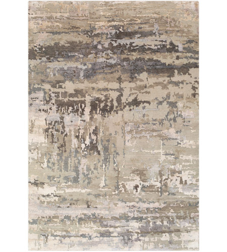Surya RTE2303-23 Arte 36 X 24 inch Light Gray and Camel Area Rug, Rectangle photo