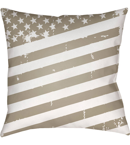 Surya SOL013-2020 Americana III 20 X 20 inch Beige and White Outdoor Throw Pillow photo