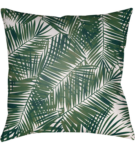 Surya SOL040-2020 Fern Leaf 20 X 20 inch Green and White Outdoor Throw Pillow photo