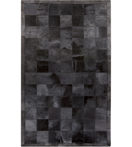 Surya Vgs3000 58 Vegas 96 X 60 Inch Black And Silver Area Rug