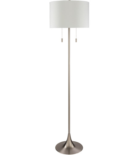 Surya WLR-001 Walter 60 watt Silver Floor Lamp Portable Light photo