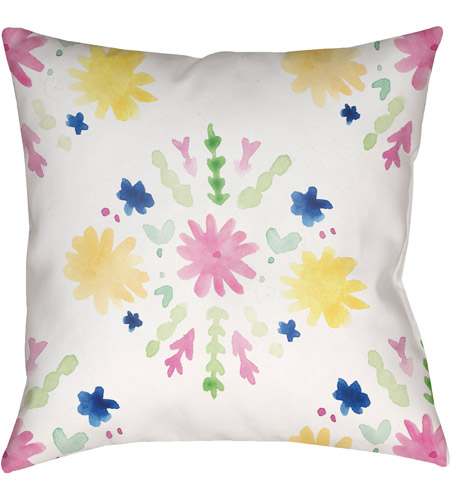 Surya WMAYO018-2020 Flores Burst 20 X 20 inch Pink and Yellow Outdoor Throw Pillow photo