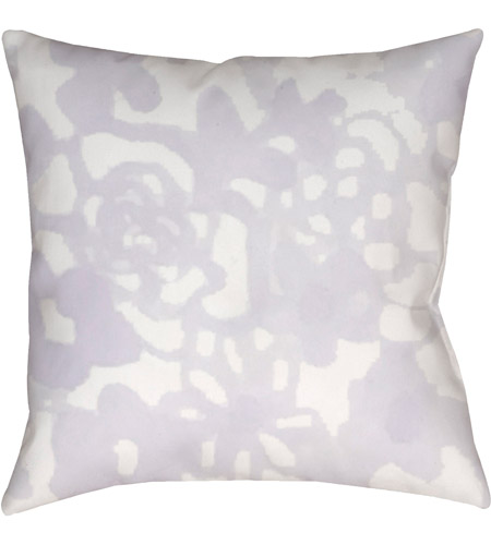 Surya WMOM024-2020 Flowers II 20 X 20 inch Purple and Neutral Outdoor Throw Pillow photo