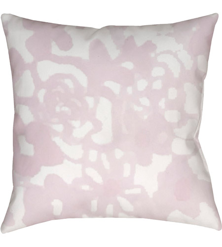 Surya WMOM025-2020 Flowers II 20 X 20 inch Pink and Neutral Outdoor Throw Pillow photo