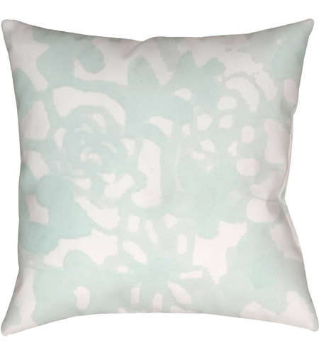 Surya WMOM026-2020 Flowers II 20 X 20 inch Green and Neutral Outdoor Throw Pillow photo