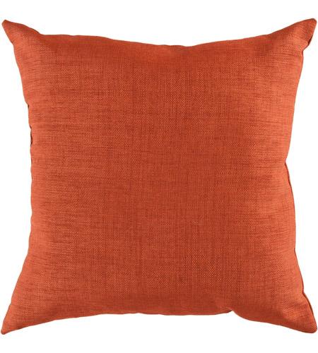 Surya Zz431 1818 Storm 18 X 18 Inch Orange Outdoor Throw Pillow