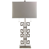 Antony 32 inch 60 watt Silver Leaf Table Lamp Portable Light