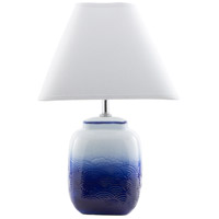 Azul 18 inch 100 watt Ombre Blue Table Lamp Portable Light