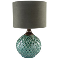 Blakely 14 inch 100 watt Dark Green Table Lamp Portable Light