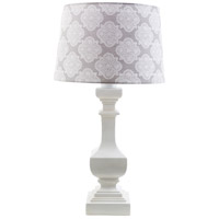 Carolina 29 inch 100 watt White Table Lamp Portable Light