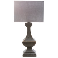 Davis 15 inch 100 watt Antique Pewter Table Lamp Portable Light