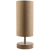 Denton 16 inch 100 watt Natural Wood Table Lamp Portable Light
