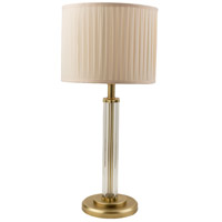 Draper 13 inch 60 watt Antique Brass Table Lamp Portable Light