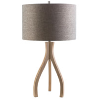 Duxbury 29 inch 100 watt Natural Wood Table Lamp Portable Light