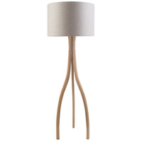 Duxbury 60 inch 100 watt Natural Wood Floor Lamp Portable Light