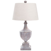 Surya ERLP-002 Eleanor 28 inch 100 watt Gray Washed Table Lamp Portable Light photo thumbnail
