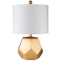 Surya FIE-101 Fielding 22 inch 100 watt Gold Table Lamp Portable Light photo thumbnail