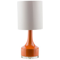 Surya FRR357-TBL Farris 25 inch 100 watt Orange Table Lamp Portable Light photo thumbnail