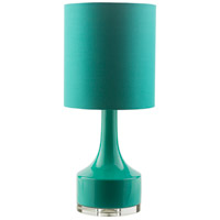 Farris 25 inch 100 watt Green Table Lamp Portable Light