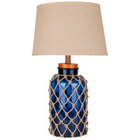 Amalfi 30 inch 150 watt Glass and Jute Table Lamp Portable Light