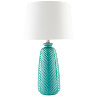 Gilani 25 inch 100 watt Blue Table Lamp Portable Light
